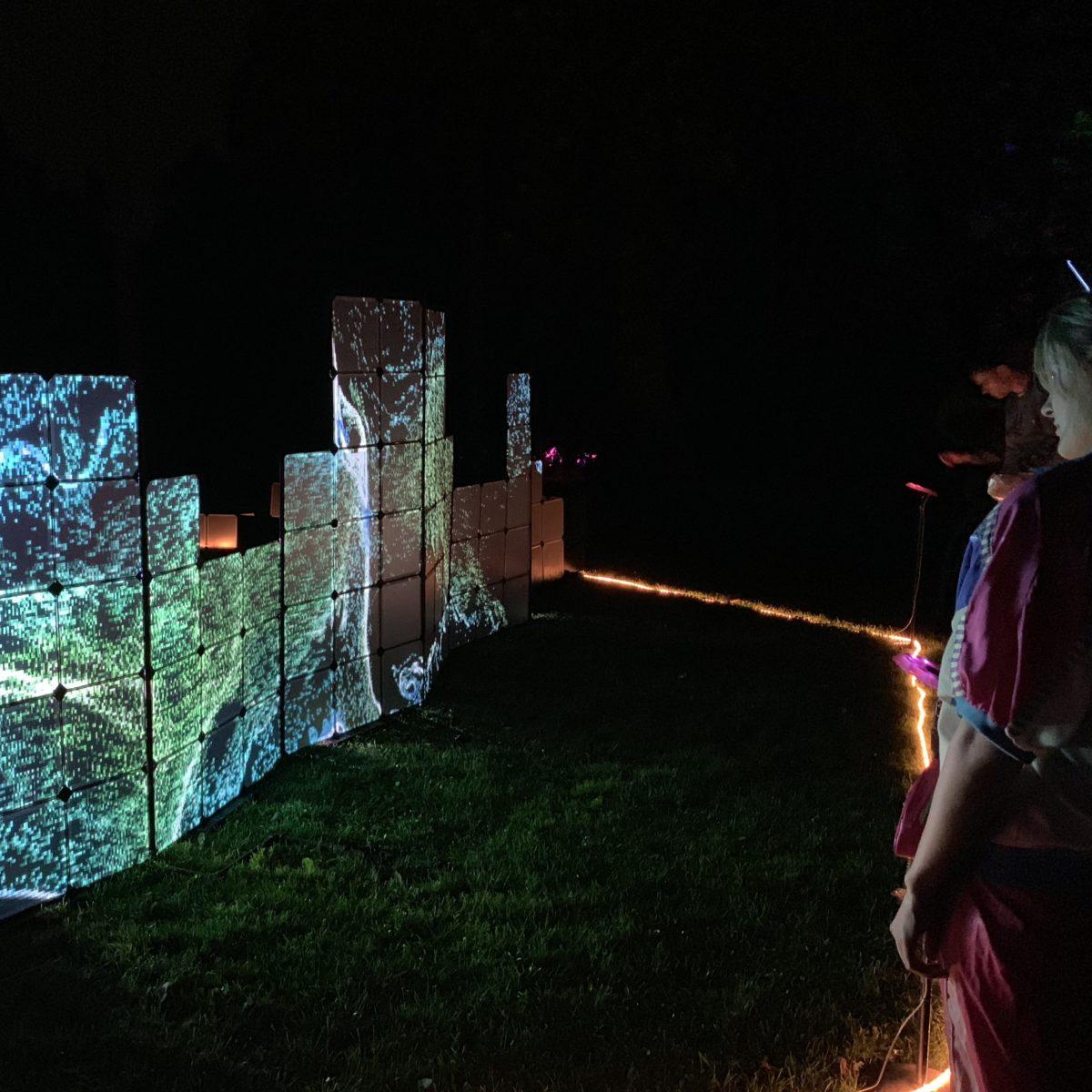 The Wall Operating at Night